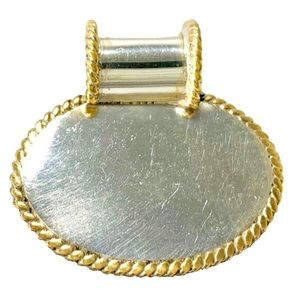 Sterling Silver & Gold Tone Necklace Charm